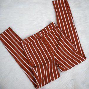 3/$20 Forever 21 Orange Striped Skinny Pants